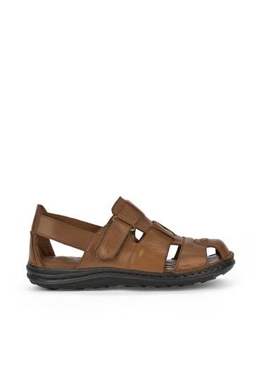 Ziya  Erkek Hakiki Deri Sandalet 111122 2016  Taba